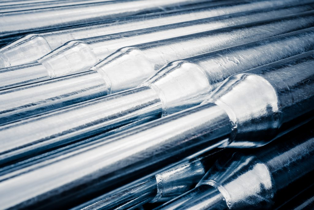 passivated steel rods