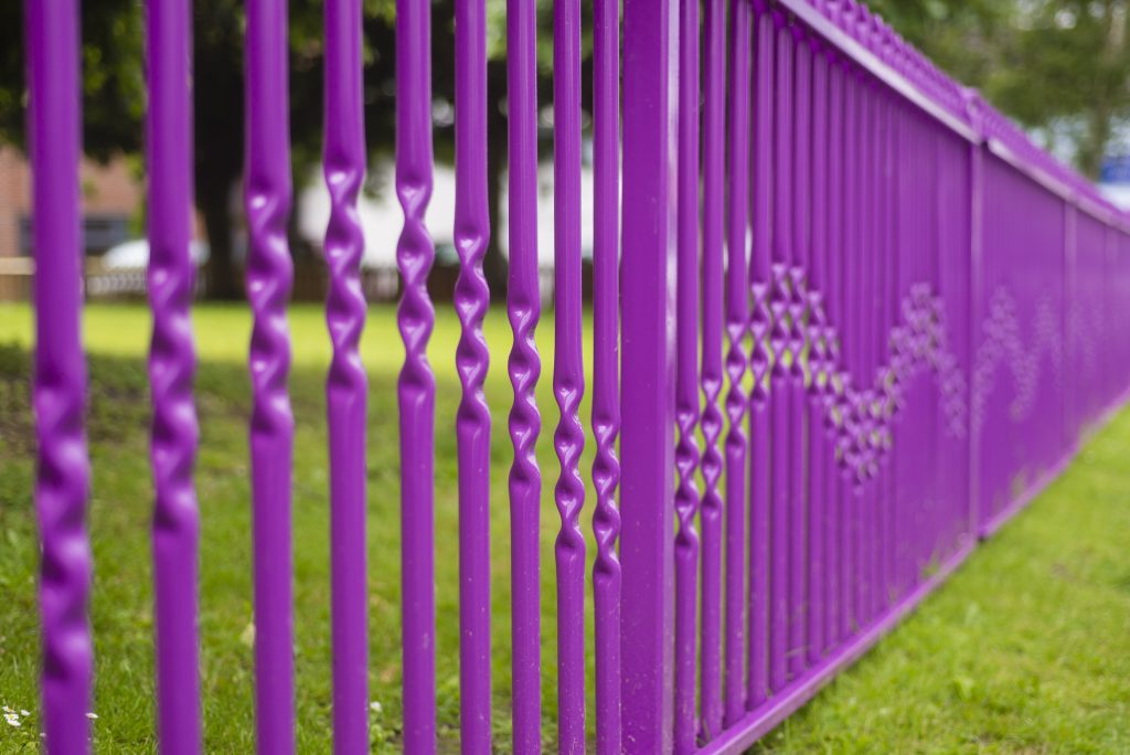 Purple Powder Coated Gate Rails