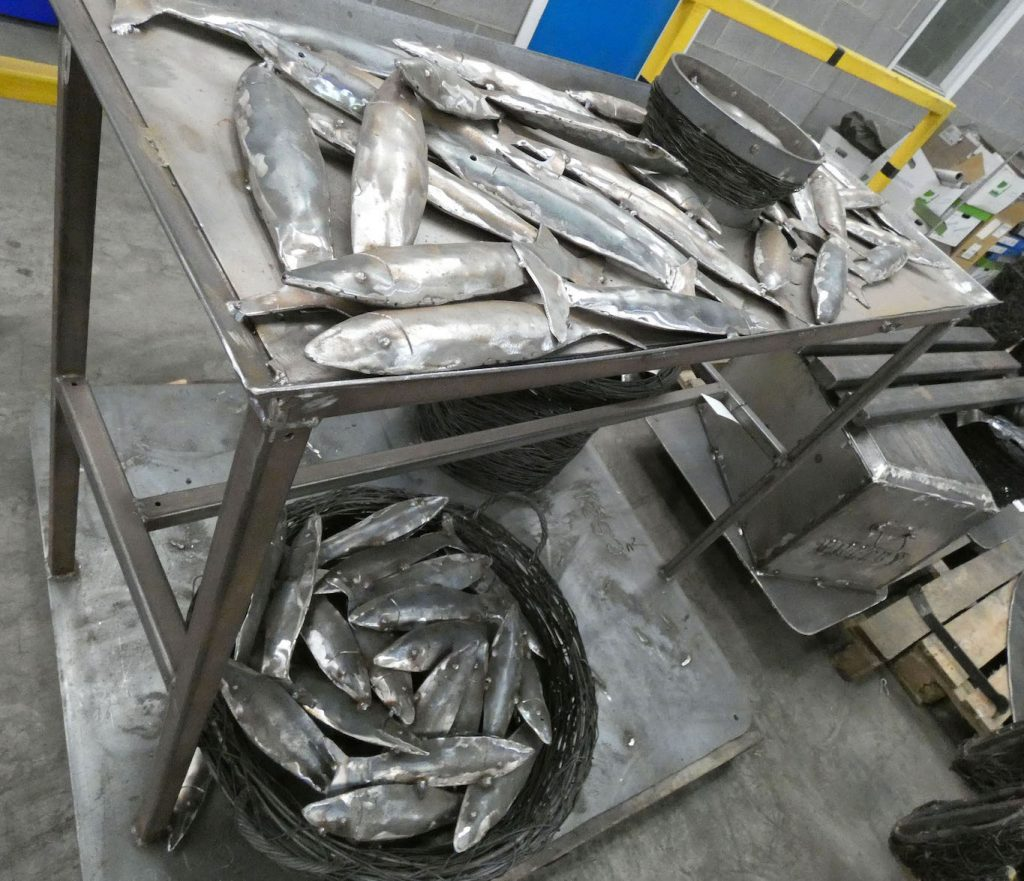 Emma Stothard Whitby Walk Heritage Sculptures Hot Dip Galvanized by Premier Galvanizing Hull