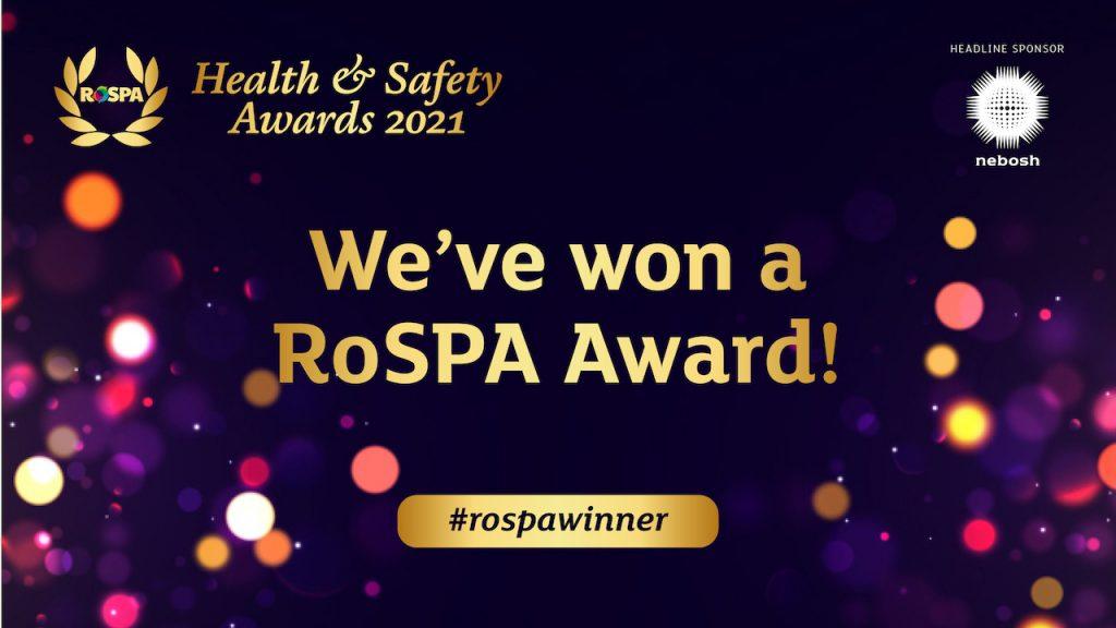 RoSPA Gold Award Winner 2021